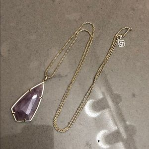 Kendra Scott Carole Necklace - Amethyst and gold